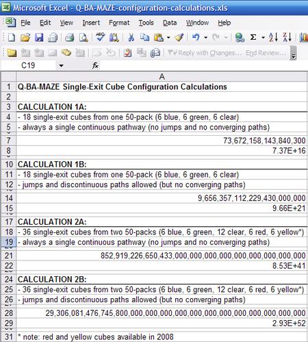 Qbamazeconfigurationcalculations